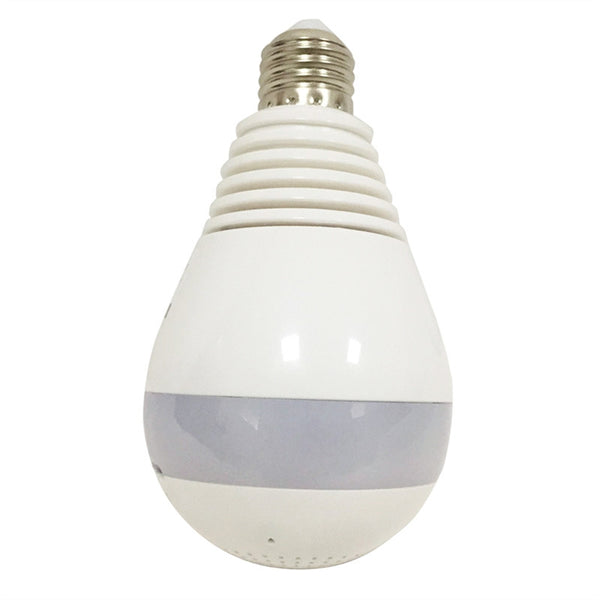 Wireless Panoramic Bulb Camera 360 Degrees Fisheye Lens with Night Vision and Motion Detection
