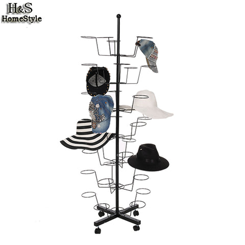 Adjustable Metal Rotating Hat Display Stand