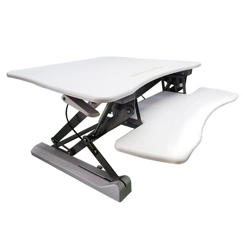 Adjustable Height Stand Up Desk/Workstation, 90x59cm in Black or White