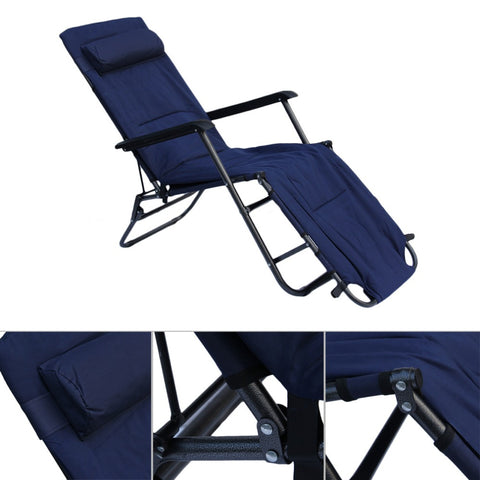 Garden Recliner Chair, Fold-able and Lightweight 1780 x 600 x 880 mm