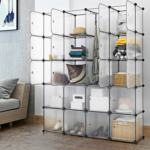20 Cube Interlocking Modular Storage Organiser