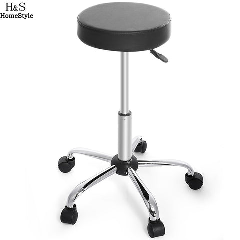 Adjustable round hairdressers stool