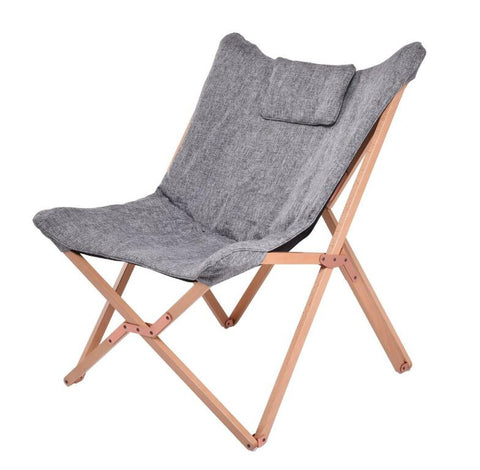 Folding Butterfly Chair Solid Beech Wood Frame with Cushion Seat Indoor Living Room Furniture Leisure Lazy Folding Chair Lounge