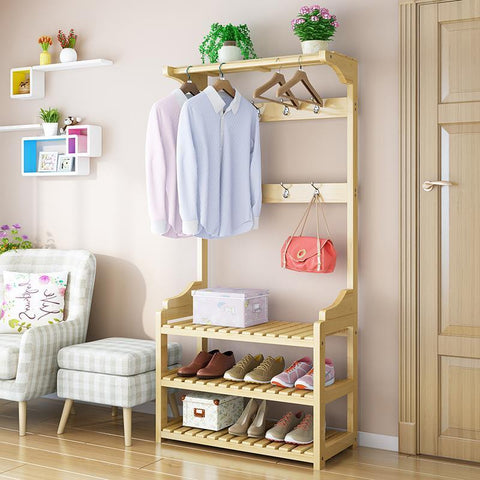 Wooden Coat Rack / Clothes Stand