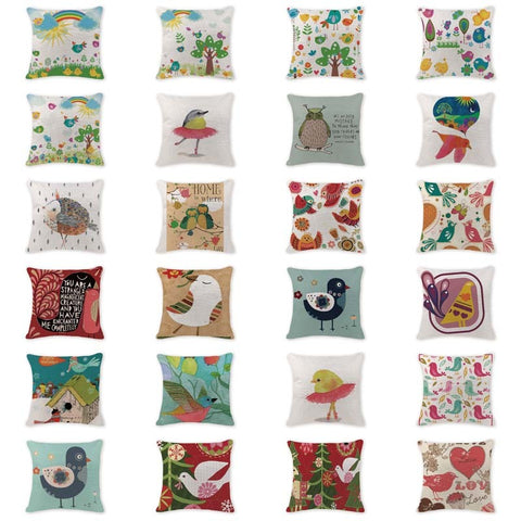 Designer Printed Cotton Cushions - Throw Pillows 450 x 450mm