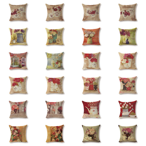 Printed Cotton Cushions - Throw Pillows 450 x 450mm
