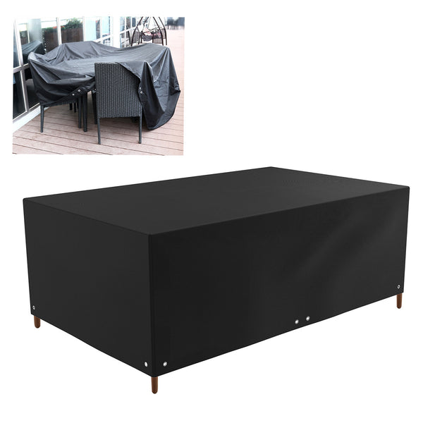 WINOMO Waterproof Dust-proof Large Rectangle Table Sofa Chair Cover Patio Lounge Outdoor Furniture Dust Cover 213x132x74cm (Black)