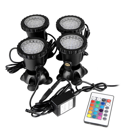 4pcs Submersible LED Pond Spotlights