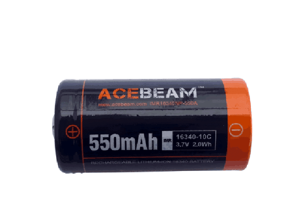 ACEBEAM IMR 16340 - 550 mAh Lithium-ion Batteries - For Flashlights - True Talon