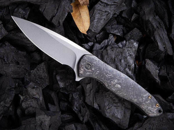 #1 ** BACK AGAIN ** WE Knife - 2001 KITEFIN - S35VN Blade - Carbon Fiber or Titanium Handle