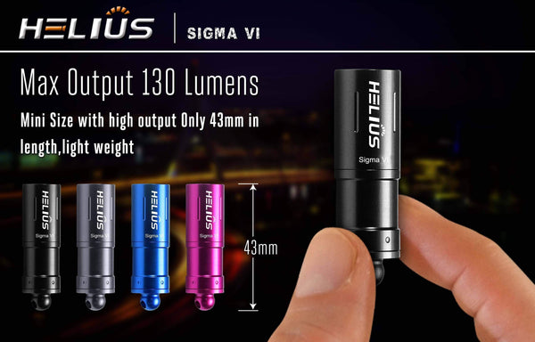 130 Lumens Flashlight - Helius - Sigma VI - true-talon