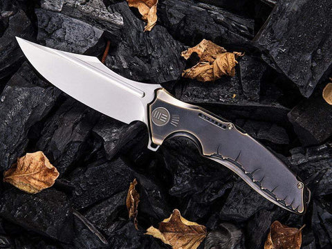 ** BACK IN STOCK ** WE Knives CHIMERA - 814A - S35VN Blade - Bronze Titanium  Handle - True Talon