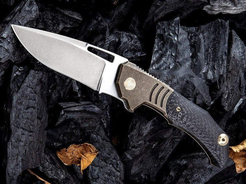 ** 817 NEW ** - WE Knives - 817 STIXX - M390 Blade - CARBON FIBER AND TITANIUM - true-talon