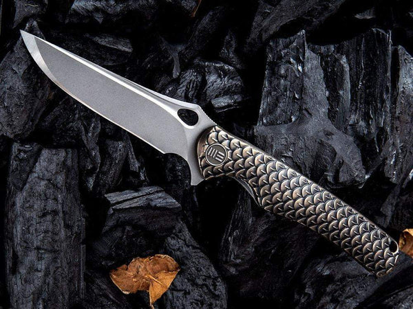 ** SOLD OUT ** WE Knives Drakon - 819 - M390 Blade - INTEGRAL Titanium Handle - True Talon