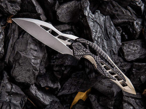** NOW HERE ** WE Knives ARRAKIS - 906CF - M390 Blade - Carbon Fiber & Titanium  Handle - true-talon