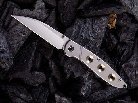 ** NOW HERE ** - WE Knives - 908 SCHISM - S35VN Blade - Titanium Handle - true-talon