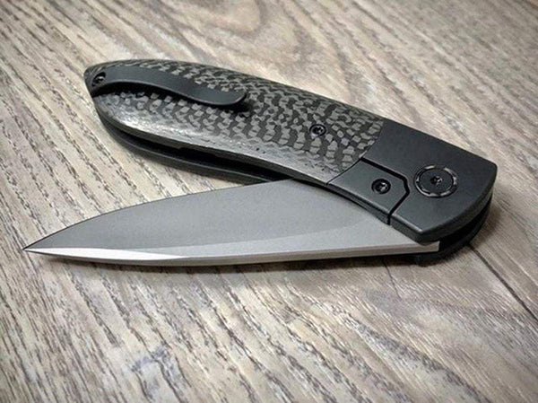 # ** HERE NOW ** OHLONE KNIVES - The BUTRON - 20CV Blade - Carbon Fiber or Red G10 Handle - True Talon