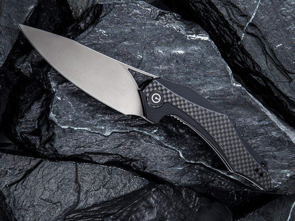 ** NOW HERE ** CIVIVI - C904 PLETHIROS - D2 Blade - Carbon Fiber - G10 FUSED Handle - True Talon
