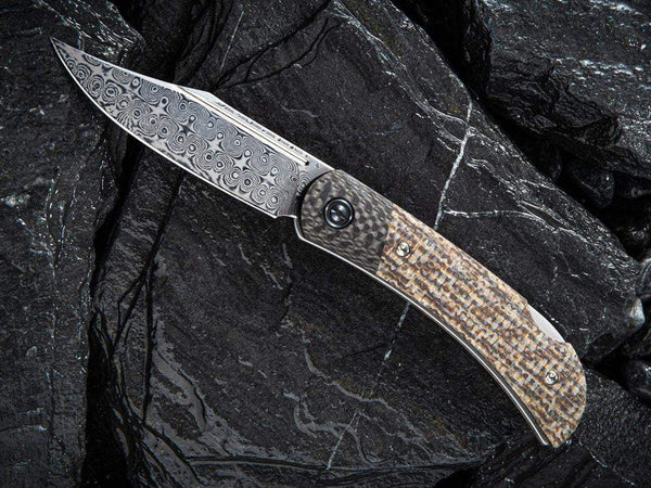 ** HERE NOW ** CIVIVI - C914DS Rustic Gent DAMASCUS - Lock Back - G10 or Micarta Handles & Carbon Fiber Bolsters - True Talon