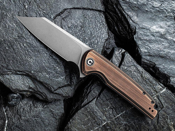 ** HERE NOW ** CIVIVI - C909D BRIGAND - STONEWASH 154CM BLADE - BLACK HAND RUBBED COPPER HANDLE - True Talon