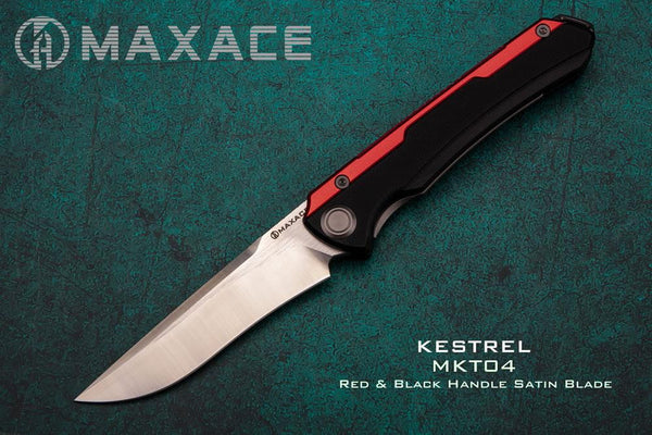 # ** HERE NOW ** Maxace KESTREL - M390 Blade - FRONT FLIPPER - G10 / Titanium / Aluminum Handle - True Talon