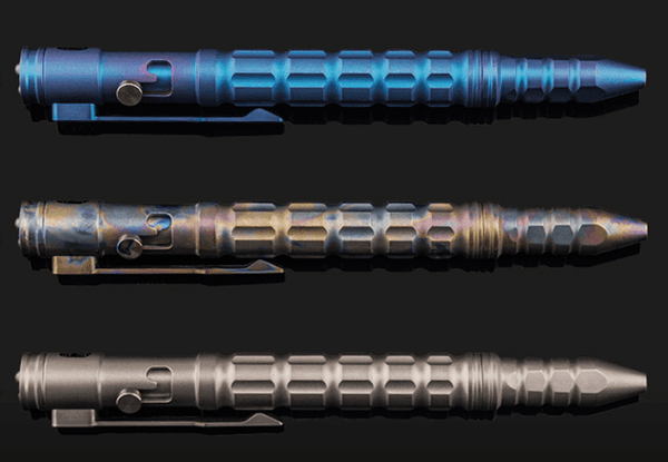 ** NOW HERE  ** P10 TITANIUM TACTICAL PEN, Titanium Pens, True Talon