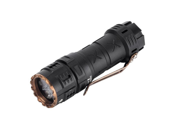 undefined ** COMING SOON ** Acebeam TK17 Black 2300 Lumens - 83mm length - Gold plated switch and clip true-talon.myshopify.com