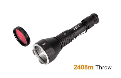 ** NOW HERE ** Acebeam W30 - 2.4 KILOMETRE THROW - Tactical & Diving Flashlight - includes battery - true-talon