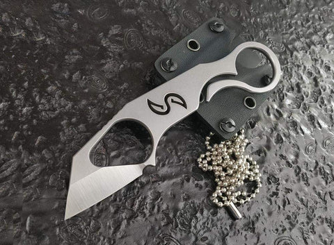 ** ALMOST GONE ** Liong Mah Designs - XENOBIT EDC MULTI-TOOL / NECK KNIFE - ALL S35VN STEEL - true-talon