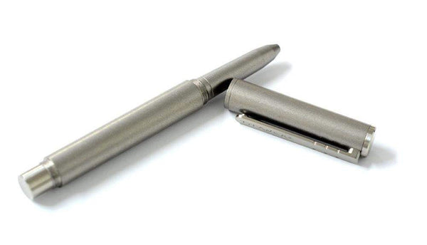***TITANIUM ICE BREAKER PEN*** - BEAD BLASTED GREY - EDC TACTICAL PEN - LIFETIME WARRANTY - Includes 2 Refills - True Talon