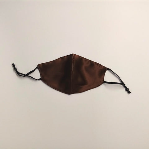 Face Mask - Silk, Reversible Black / Brown