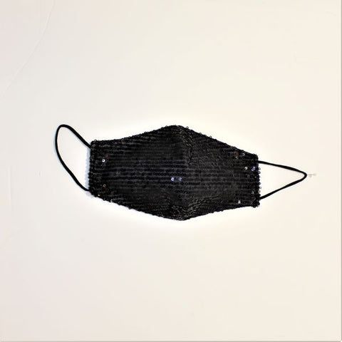 Face Mask - Sequins Black
