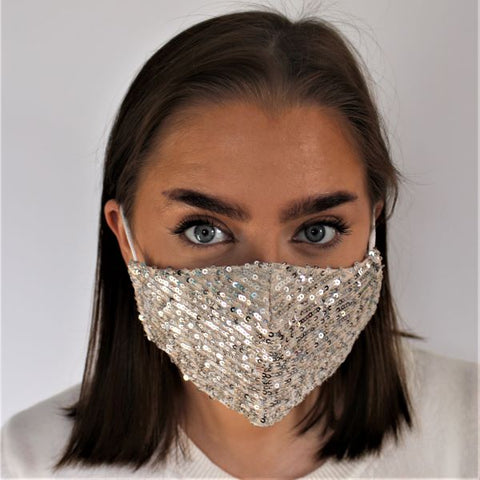 Face Mask - Sequins Champagne