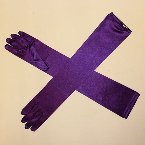 Long Gloves - Purple