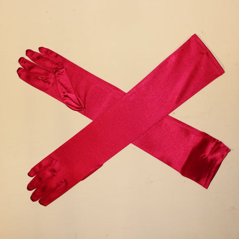 Long Gloves - Fuchsia