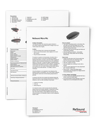 Wireless Accessesories - Micro Mic Data Sheet
