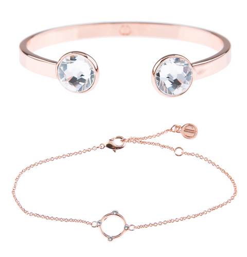 Of Dreamers and Dancers - Moments At Midnight Fine Bracelet Duo - Rose Gold - Sooki Boutique