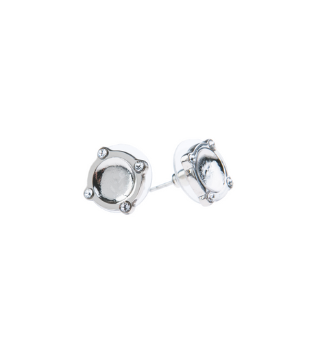 Of Dreamers & Dancers Moments At Midnight Fine Studs - Silver - Sooki Boutique