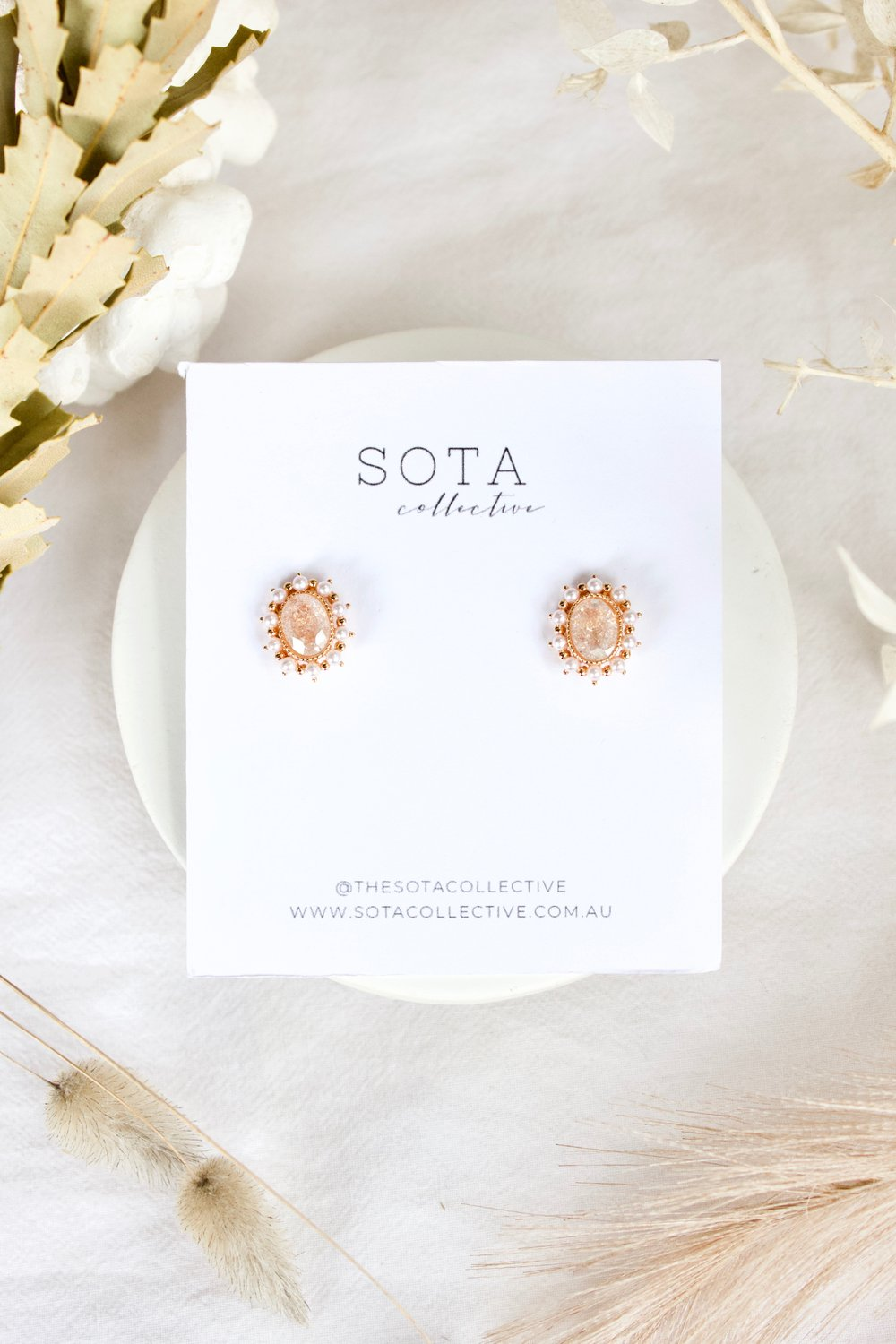 The Sota Collective Bonnie Stud Earrings - Sooki Boutique