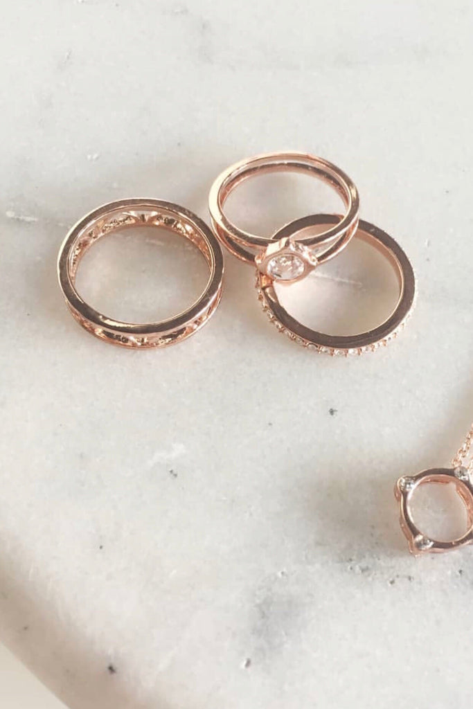 Of Dreamers & Dancers - Moments at Midnight Ring Set - GOLD / ROSE GOLD / SILVER - Sooki Boutique