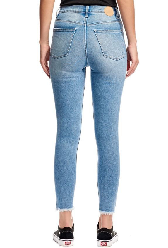 RES Denim Harrys Hi Crop Skinny Jeans - Icy Blue - Sooki Boutique