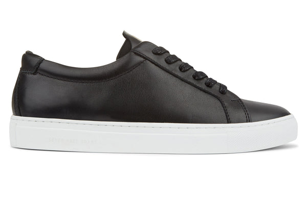 The Original 172 - Black calf leather sneaker with black neoprene comfort bridge system | side view