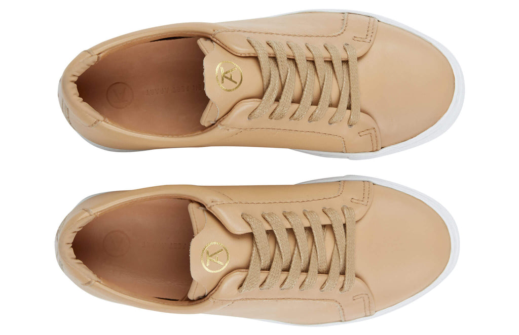 The Original 172 - Champagne calf leather sneaker with tonal neoprene comfort bridge system | top view