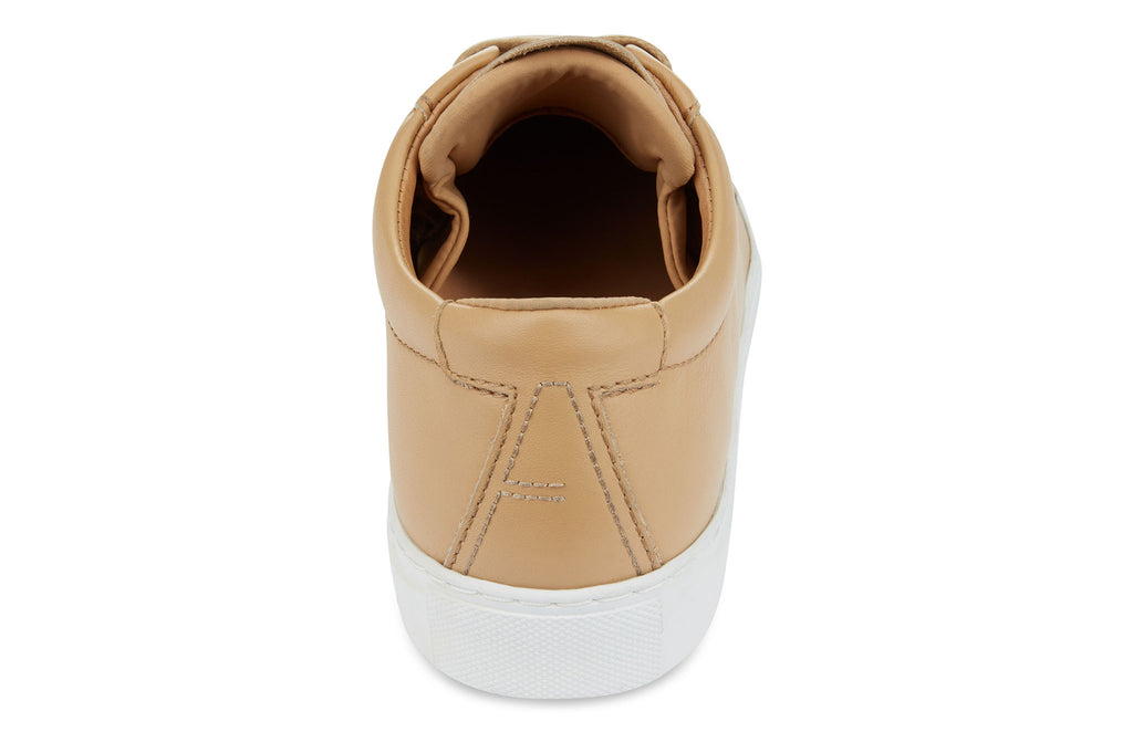 The Original 172 - Champagne calf leather sneaker with tonal neoprene comfort bridge system | rear view