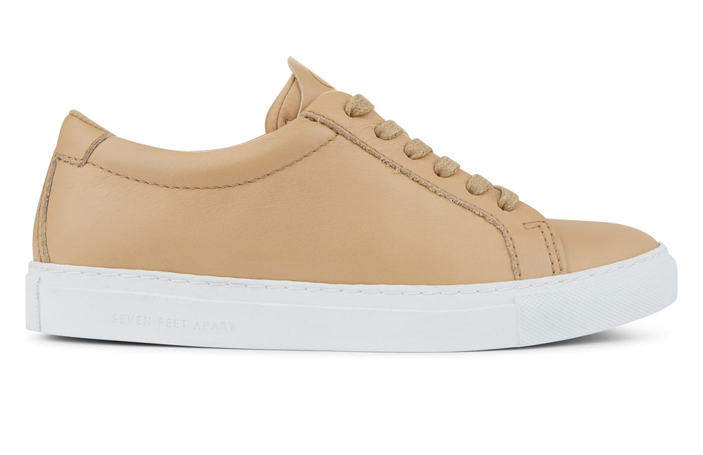 The Original 172 - Champagne calf leather sneaker with tonal neoprene comfort bridge system | side view