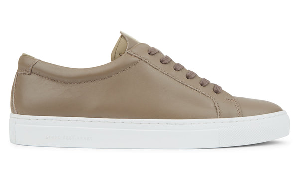The Original 172 - Taupe calf leather sneaker with tonal neoprene comfort bridge system | side view