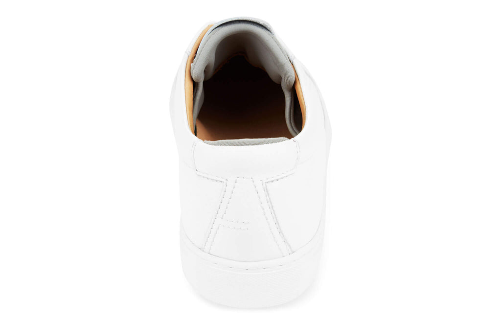 The Original 172 - White calf leather sneaker with grey neoprene comfort bridge system | rear view