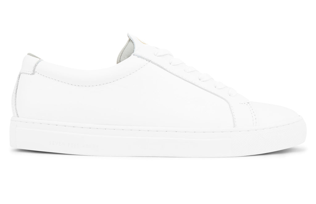 The Original 172 - White calf leather sneaker with grey neoprene comfort bridge system | side view