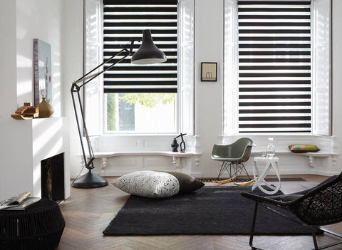 Duo black Blinds