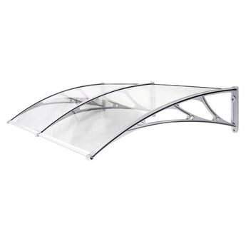Double Door Canopy: 190cm wide x 100cm deep